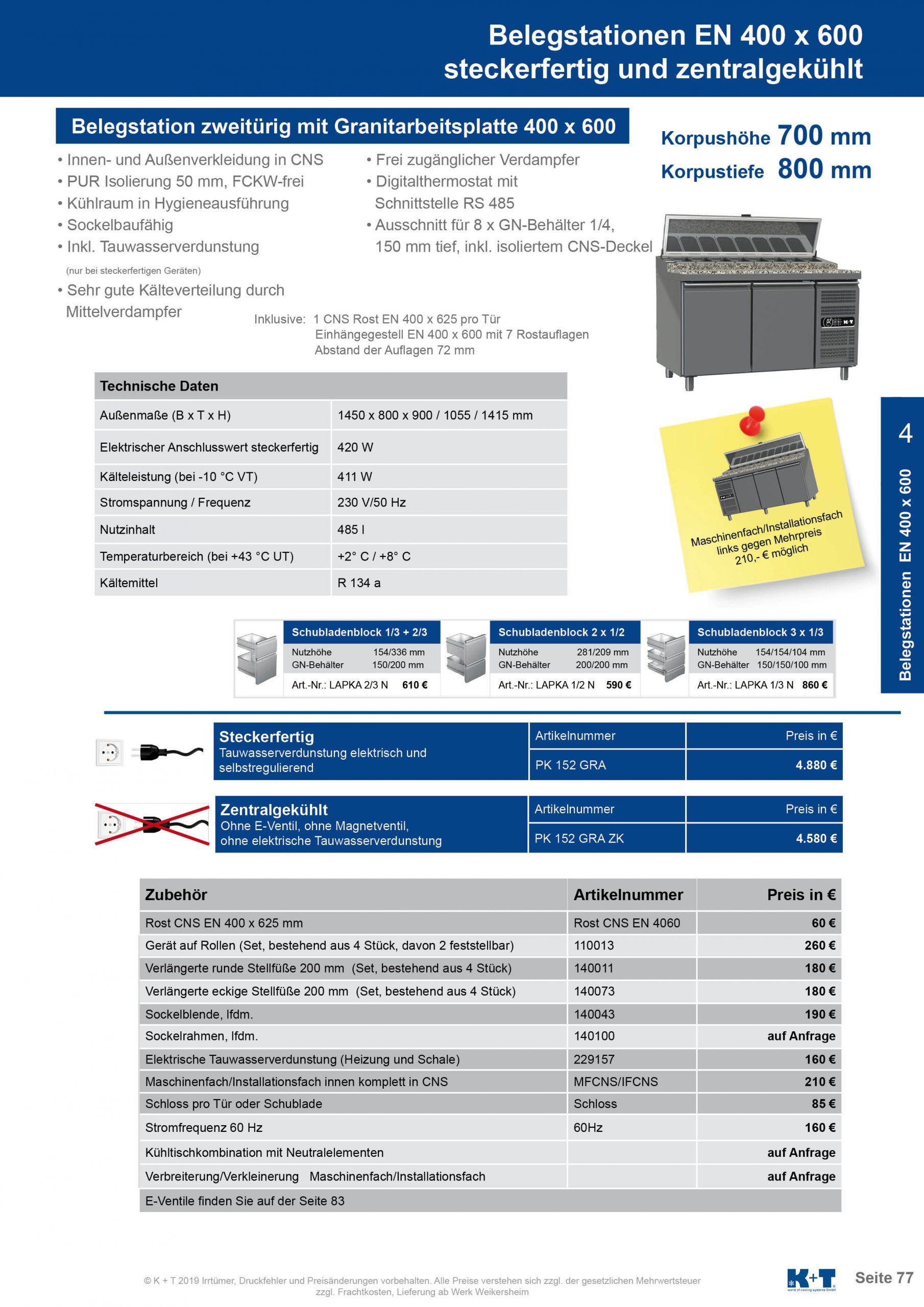 Belegstation Euronorm 400 x 600 Korpushöhe 700, Tiefe 800 steckerfertig 2