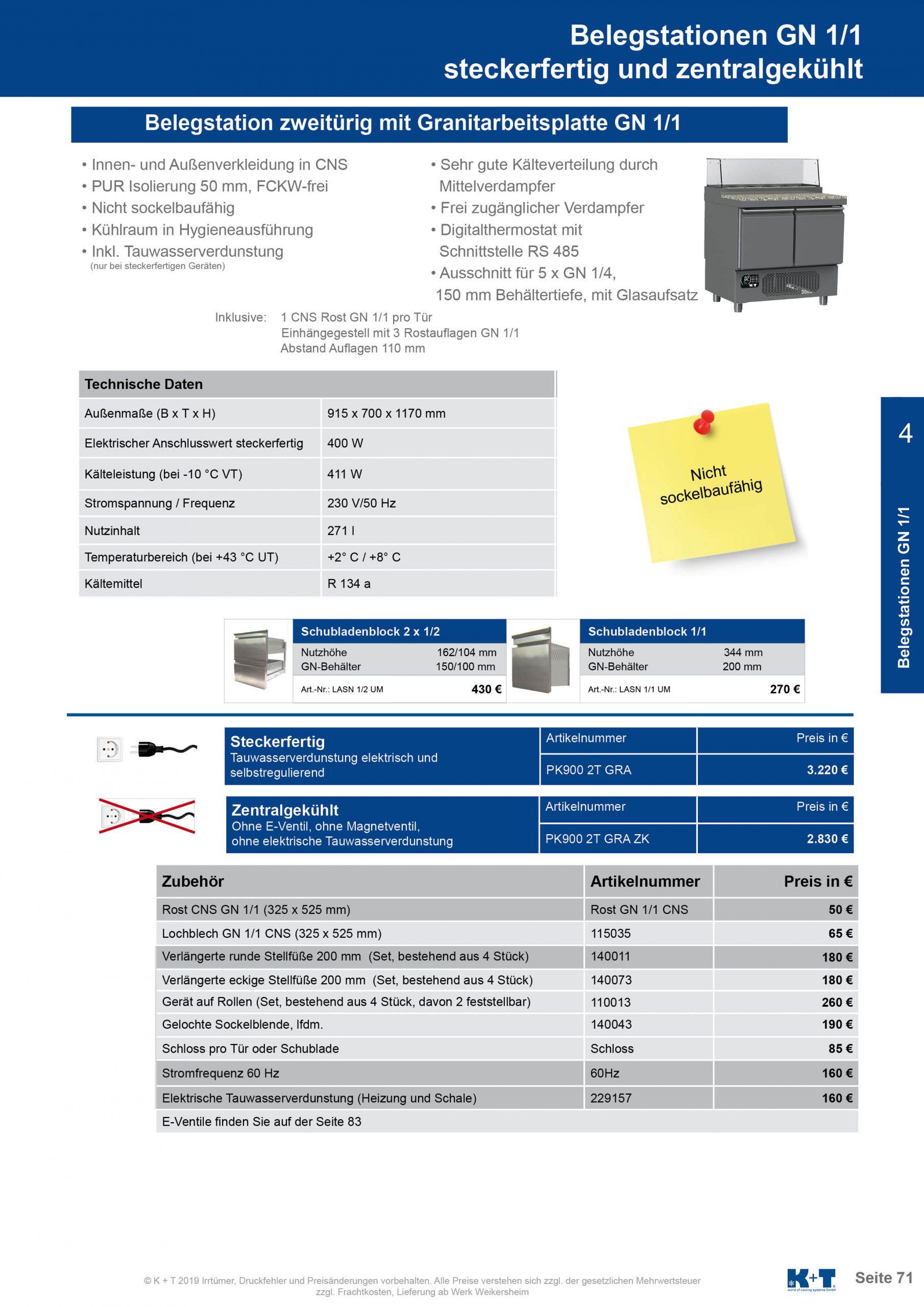 Belegstation mit untergebautem Aggregat zentralgekühlt 2