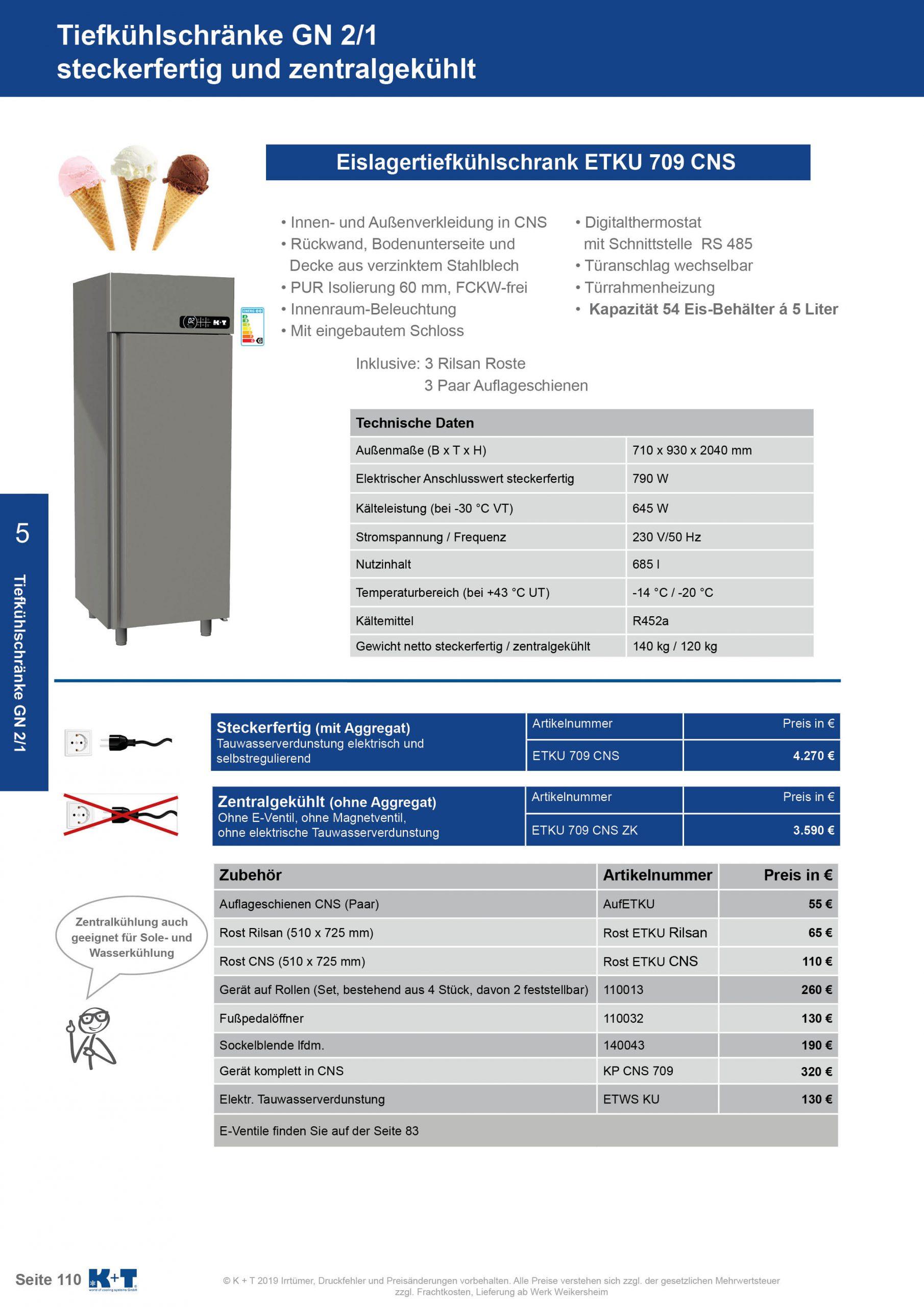 Kühl- Tiefkühlschränke für spezielle Anforderungen Eislagertiefkühlschrank GN 2_1