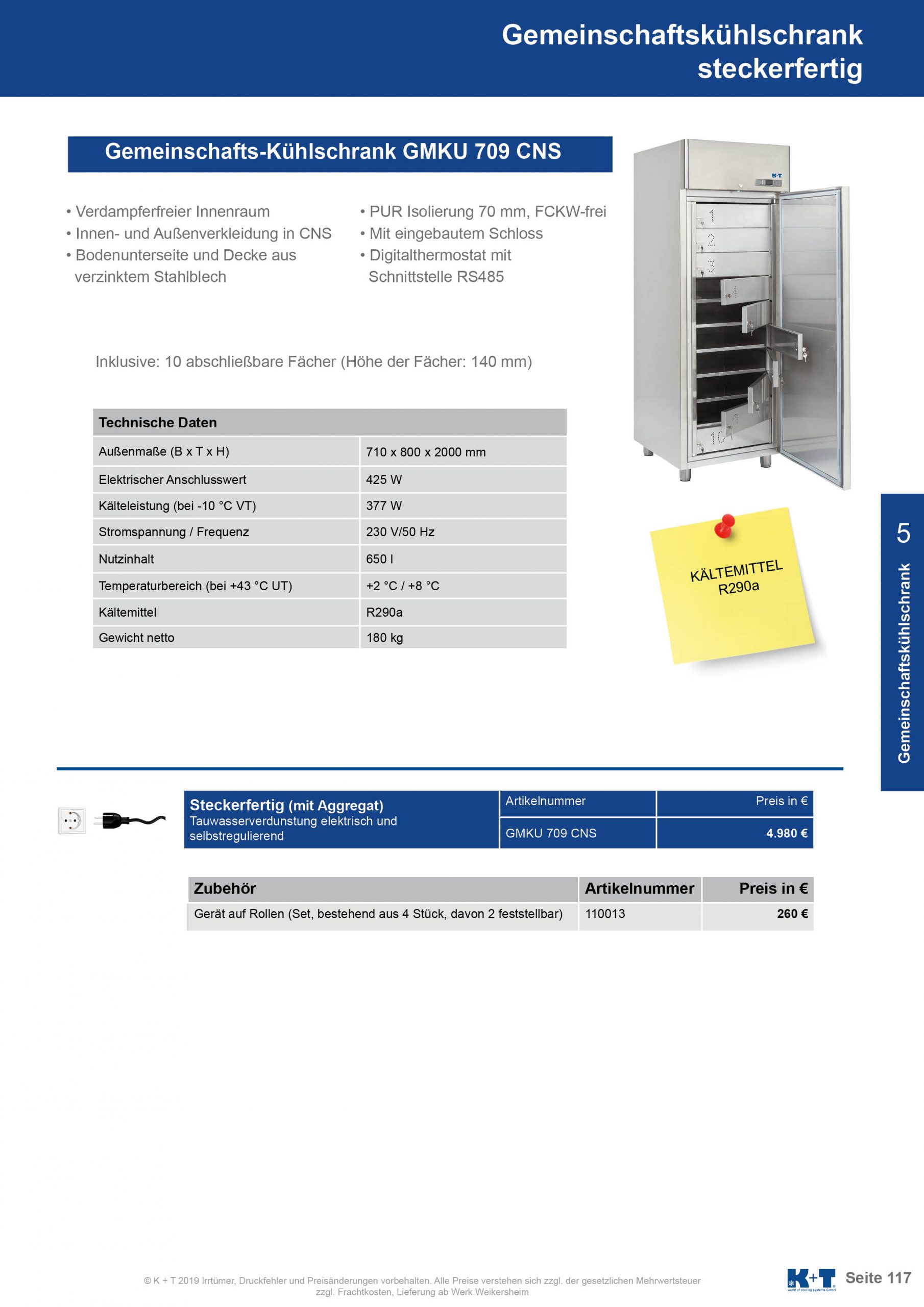 Kühl- Tiefkühlschränke für spezielle Anforderungen Gemeinschaftskühlschrank