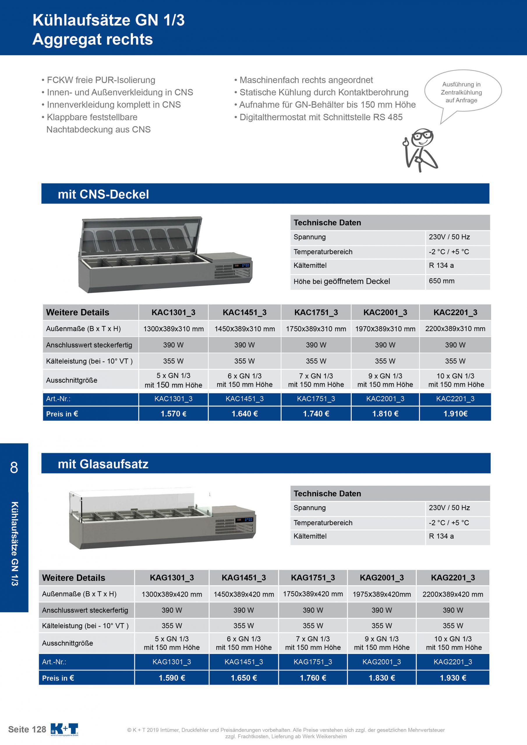 Kühlaufsätze GN 1_3 Aggregat rechts