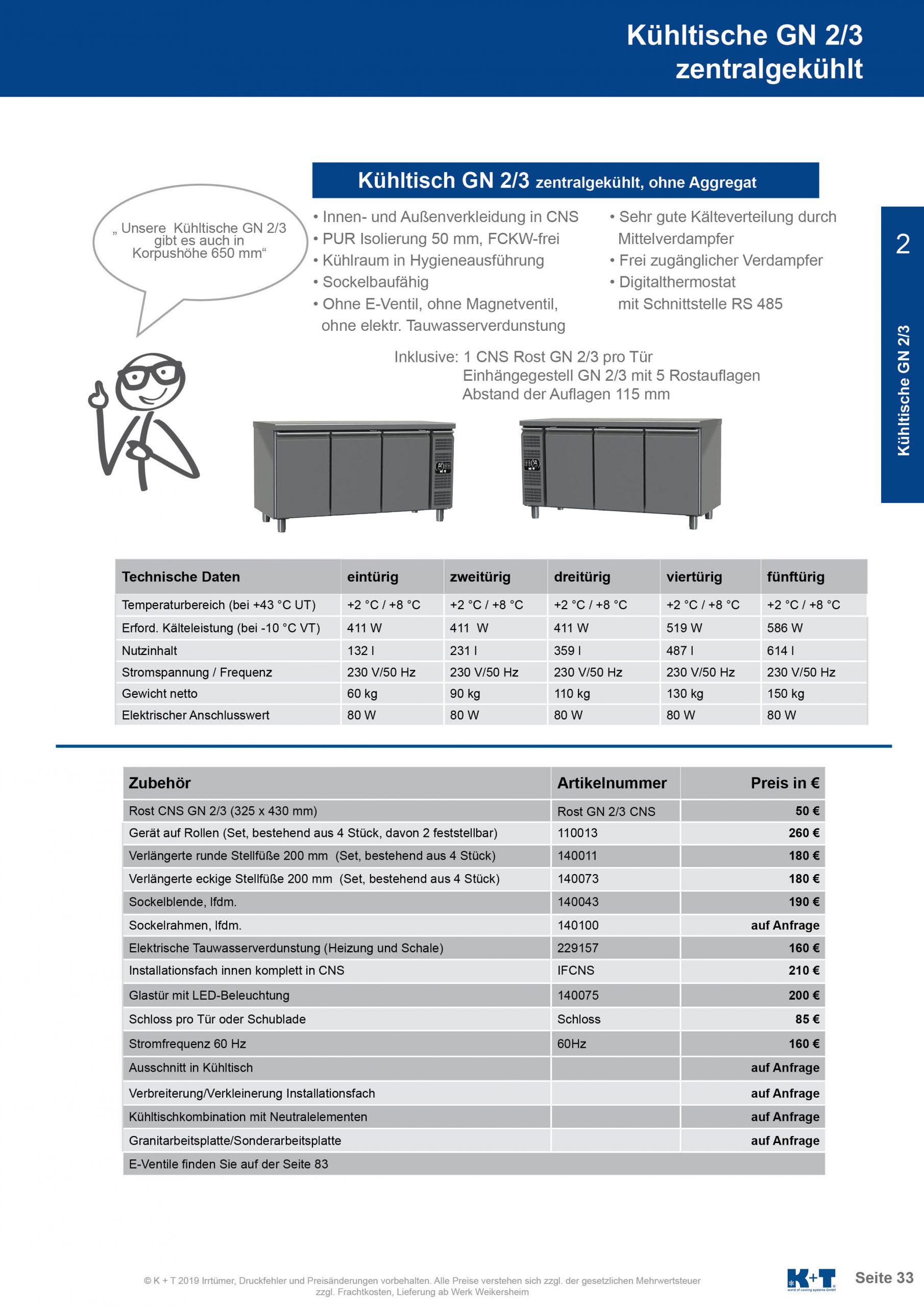 Kühltisch GN 2_3 Korpus 700 zentralgekühlt 2