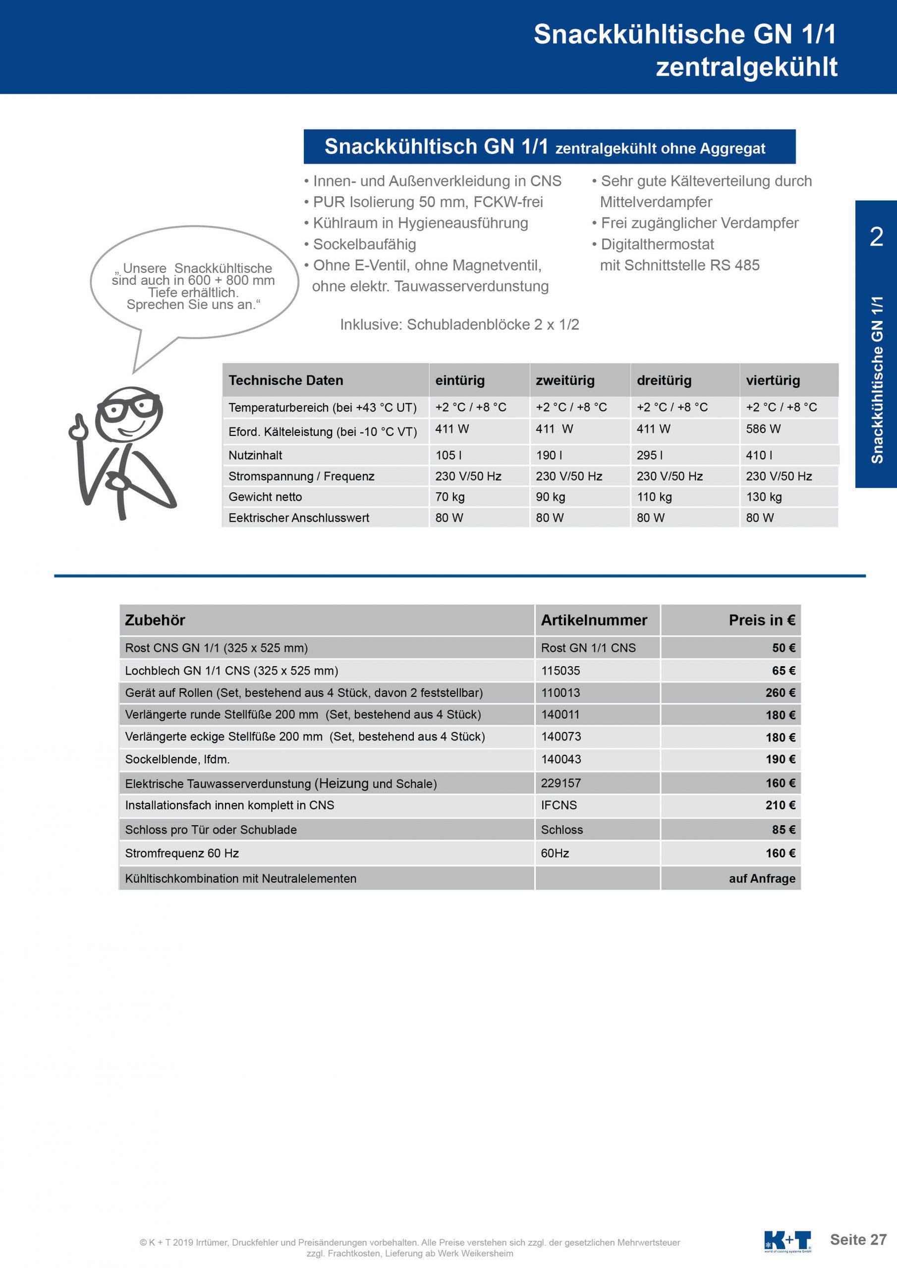 Snackkühltisch GN 1_1 zentralgekühlt 2
