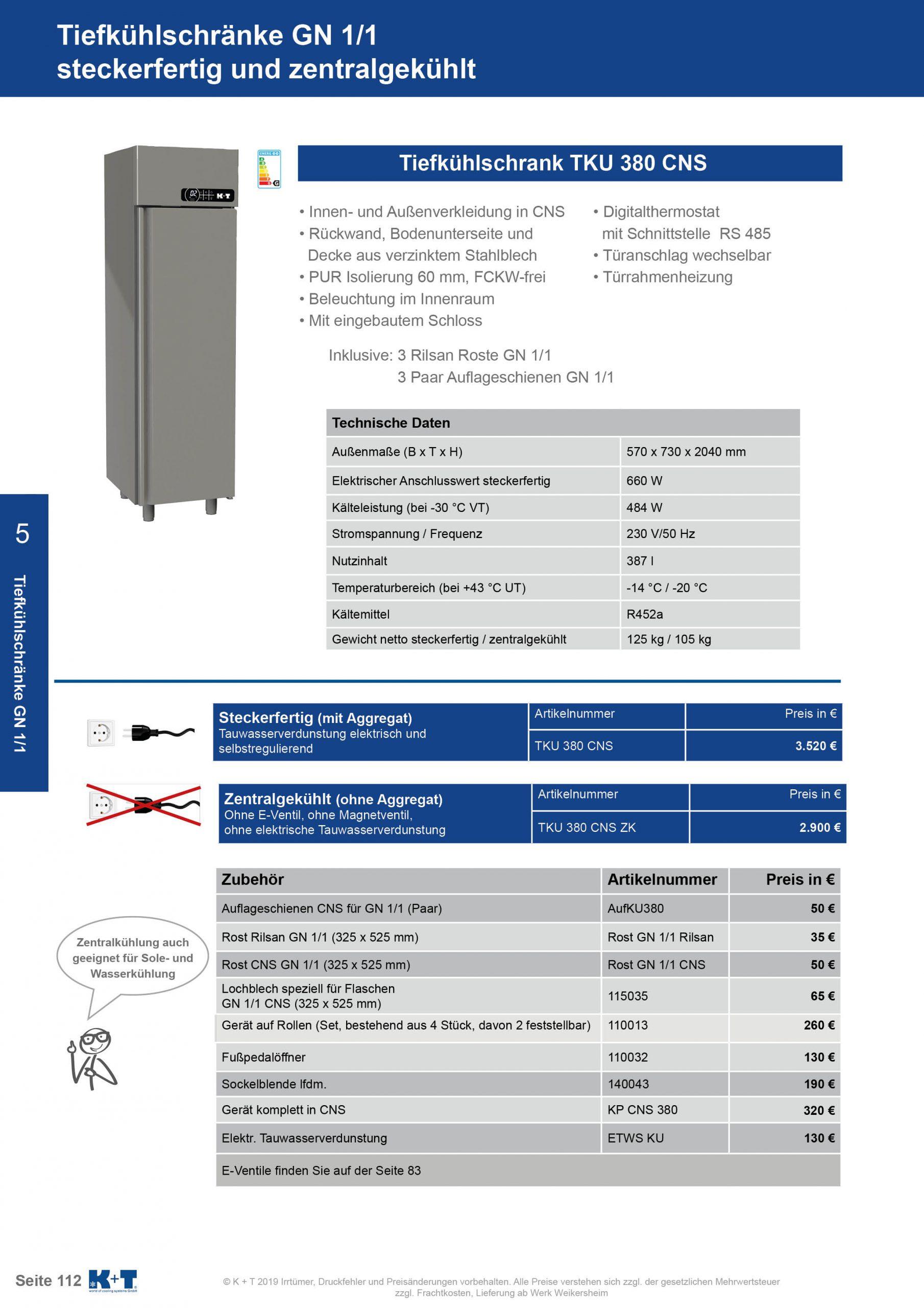 Tiefkühlschränke GN 1_1 Tiefkühlschrank zentralgekühlt