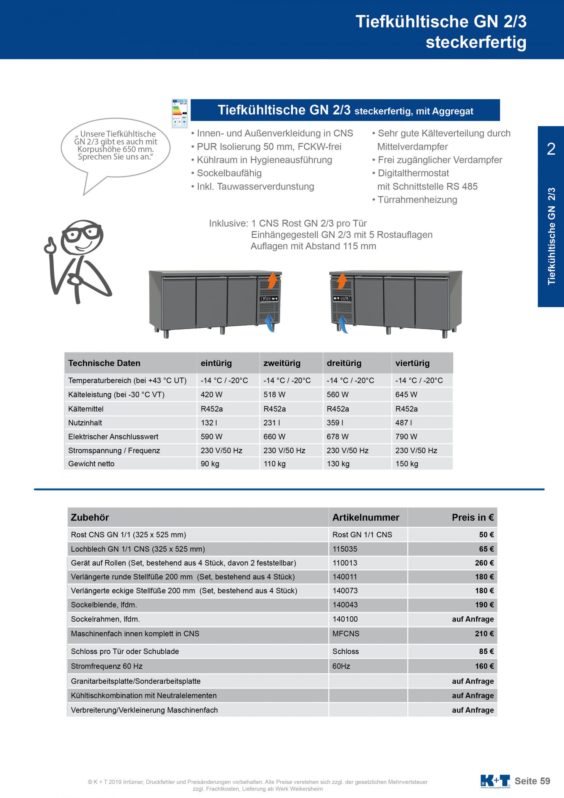 Tiefkühltisch GN 2_3 Korpus 700 steckerfertig 2
