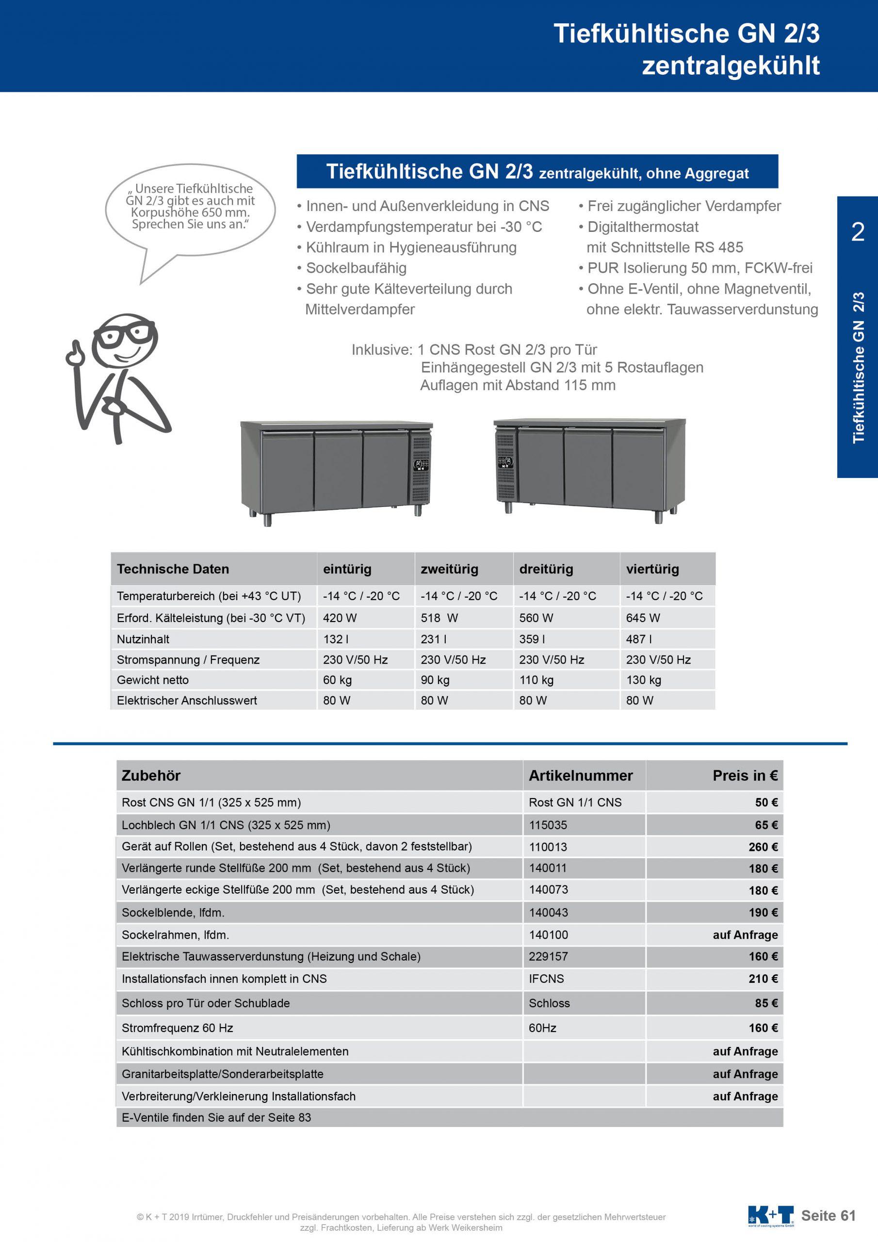Tiefkühltisch GN 2_3 Korpus 700 zentralgekühlt 2