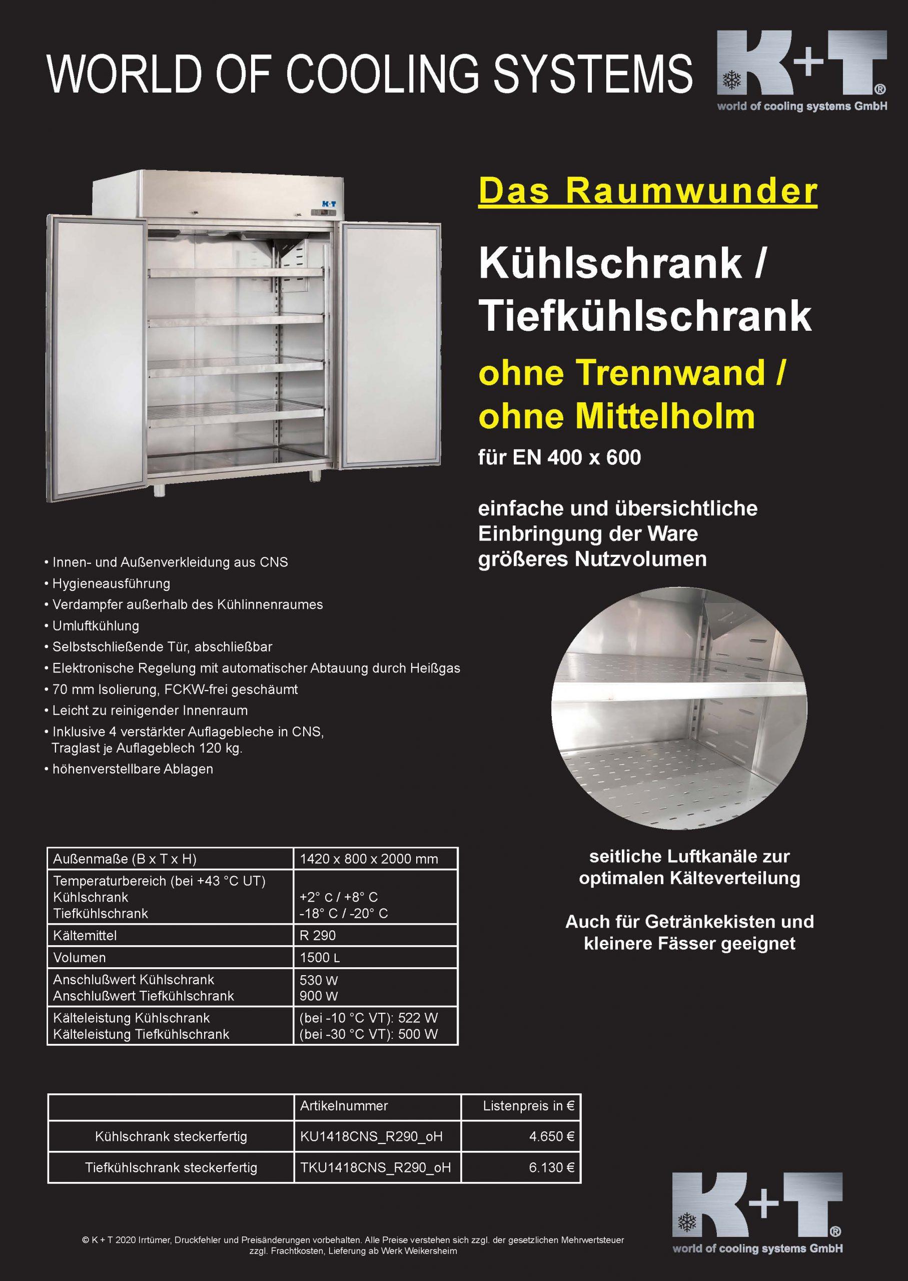 Kühlschrank KU1418 Ohne Mittelholm mit Listenpreisen